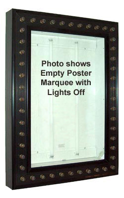 Movie Poster Light Box with Chase Lights