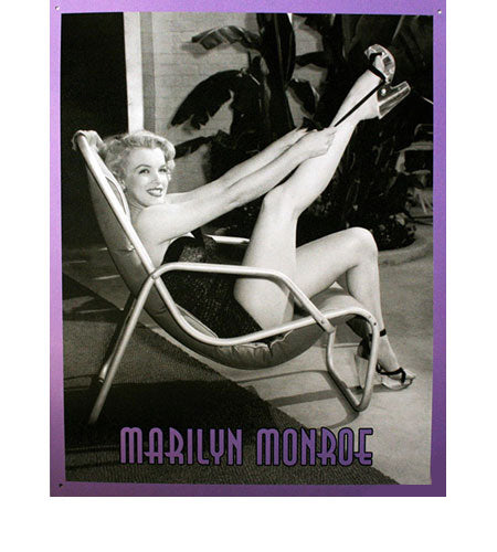 Marilyn Monroe Metal Sign Black and White Artwork