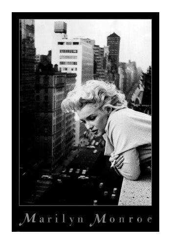 Marilyn Monroe Movie Poster Black and White