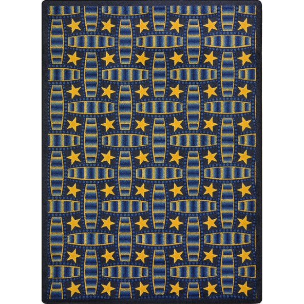 Marquee Star Home Theater Rug Blue