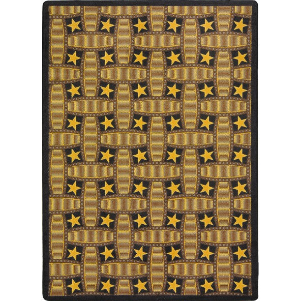 Marquee Star Home Theater Rug Chocolate