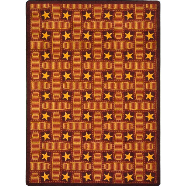 Marquee Star Home Theater Rug Red