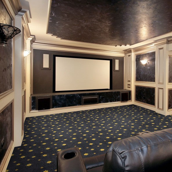 Milky Way Home Theater Carpet Wine