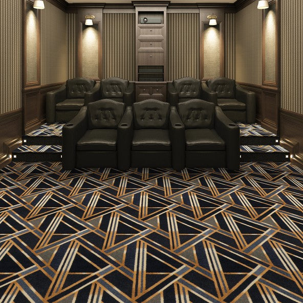 Moderne Home Theater Carpet