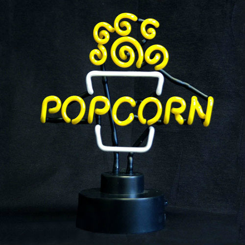 Neon Popcorn Sign Popper Topper Benchmark 91001