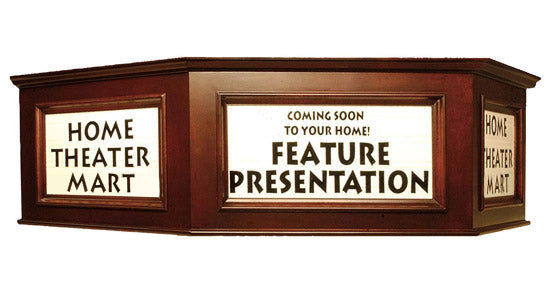 Personalized 3-Sided Angular Theater Marquee Sign