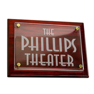 Personalized Theater Plaque