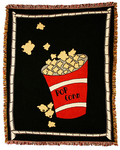 Popcorn Theater Throw Blanket