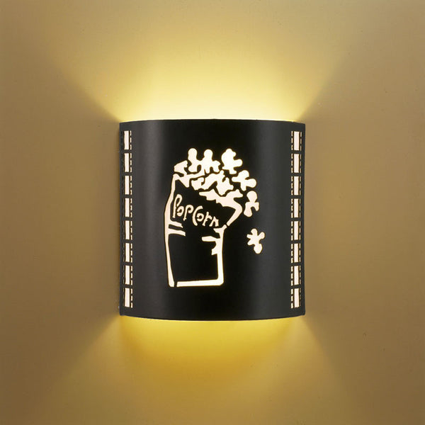 SILVER Popcorn Home Theater Wall Sconce