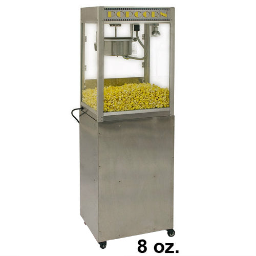 Professional Popcorn Machine Benchmark Silver Screen with Pedestal Base