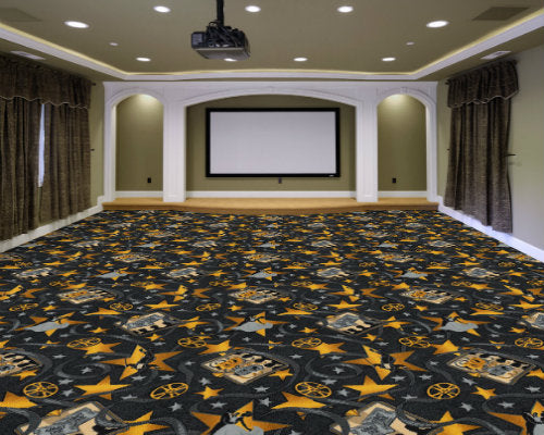 Silver Screen Home Theater Carpet Chocolate