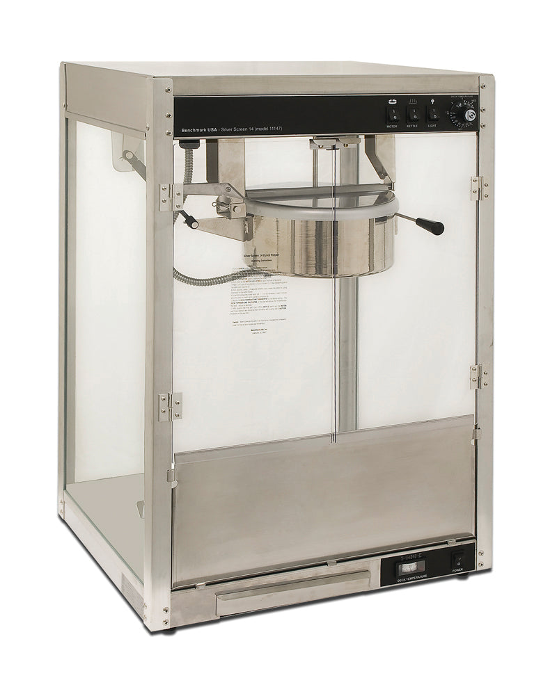 Professional Popcorn Machine Benchmark Silver Screen without Pedestal Base