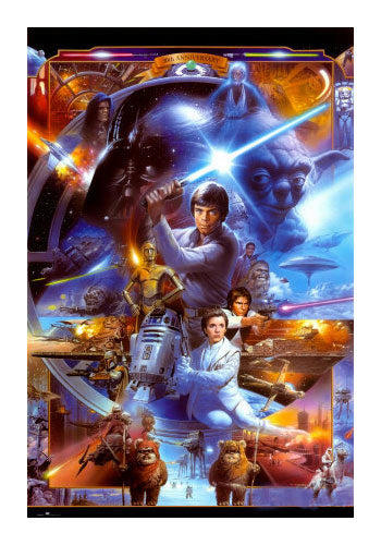 Star Wars Movie Poster Classic Montage