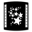 Stars Black Home Theater Wall Sconce with Filmstrip