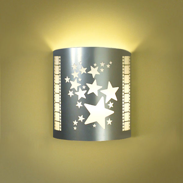 Stars Silver Home Theater Wall Sconce with Filmstrip