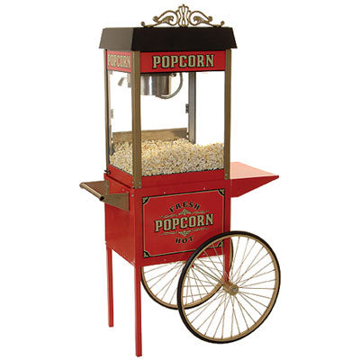 Street Vendor Popper with Antique Trolley by Benchmark