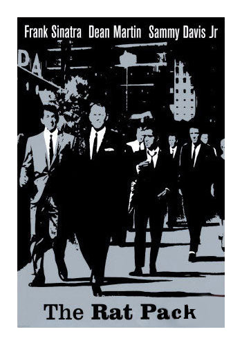 The Rat Pack Movie Poster Black and White