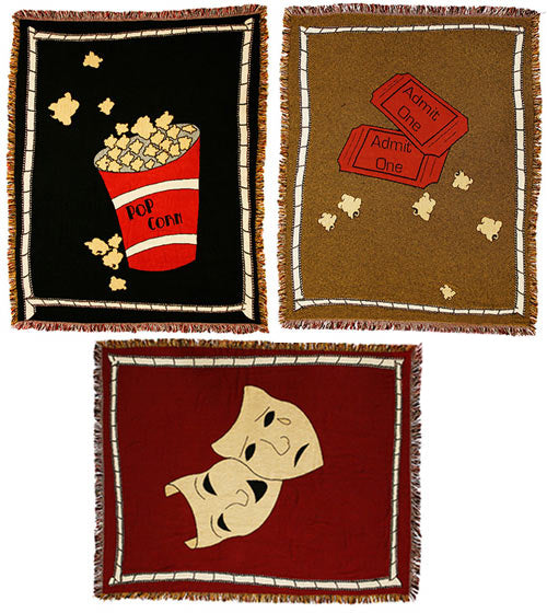 Theater Throw Blankets (Set of 3)