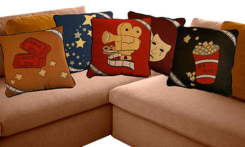 "Theater Throw Pillows 18"" x 18"" (Set of 5)"