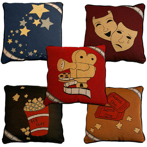 "Theater Throw Pillows  18"" x 18"" (Sold Individually)"