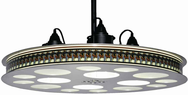 Goldberg 70mm Film Reel Hanging Light Fixture