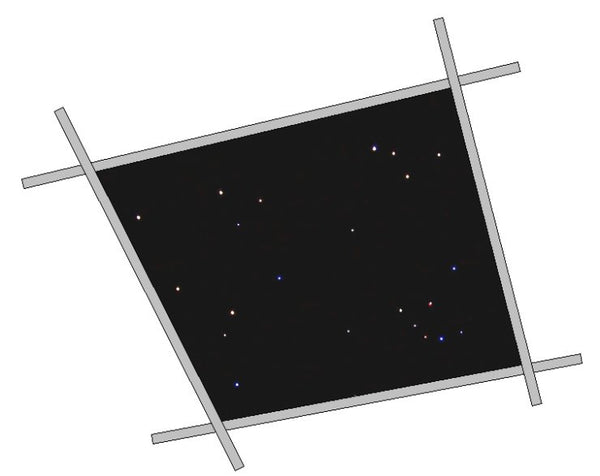 Fiber Optic Star Ceiling Tile 4 x 4 ft
