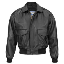 Load image into Gallery viewer, N143 Vintage Bomber Style Goatskin Leather Flight Jacket (Black or Brown)