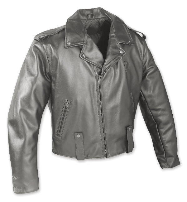 Pittsburgh Cowhide Leather Motorcycle Jacket