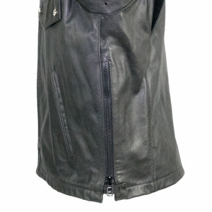 Passaic Cowhide Police issue leather jacket side zippers