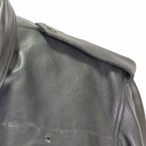 atlanta police leather jacket black goatskin taylors leather