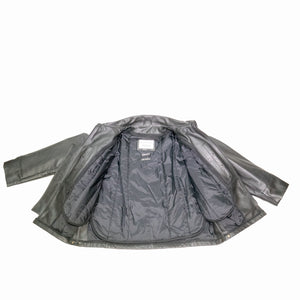 Paterson Cowhide Leather Mid Length Police Jacket