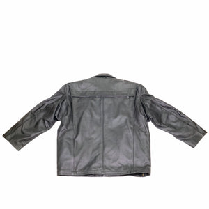NEWARK POLICE REFLECTIVE LEATHER UNIFORM JACKET BACK FLAT