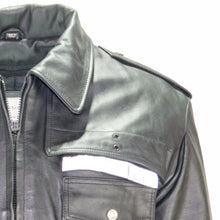 Load image into Gallery viewer, NEWARK POLICE REFLECTIVE LEATHER UNIFORM JACKET