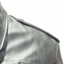 Load image into Gallery viewer, NEWARK POLICE REFLECTIVE LEATHER UNIFORM JACKET EPAULET VIEW