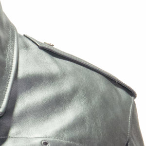 NEWARK POLICE REFLECTIVE LEATHER UNIFORM JACKET EPAULET VIEW