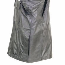 Load image into Gallery viewer, NEWARK POLICE REFLECTIVE LEATHER UNIFORM JACKET SIDE VENT VIEW