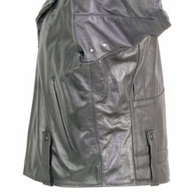 Load image into Gallery viewer, NEWARK POLICE REFLECTIVE LEATHER UNIFORM JACKET SIDE VIEW