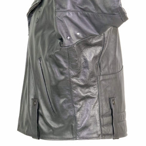 NEWARK POLICE REFLECTIVE LEATHER UNIFORM JACKET SIDE VIEW