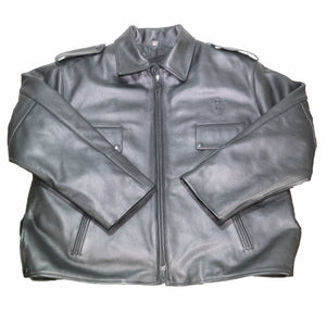 BOSTON POLICE LEATHER JACKET FRONT FLAT TAYLORS LEATHERWEAR