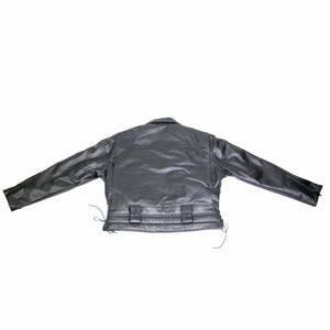 LAPD LEATHER JACKET BACK FLAT VIEW KIDNEY PAD