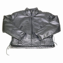 Load image into Gallery viewer, LAPD LEATHER JACKET FRONT FLAT