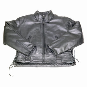 LAPD LEATHER JACKET FRONT FLAT
