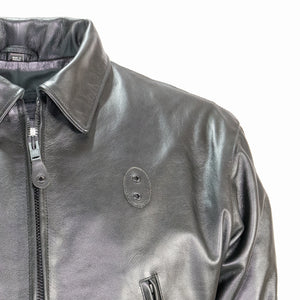LAPD LEATHER JACKET COLLAR AND SHOULDER DETAIL