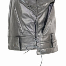 Load image into Gallery viewer, LAPD LEATHER JACKET SIDE VIEW ADJUSTABLE LACES