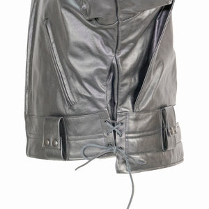 LAPD LEATHER JACKET SIDE VIEW ADJUSTABLE LACES