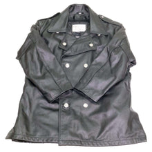Load image into Gallery viewer, NYPD LEATHER JACKET TAYLORS LEATHERWEAR FRONT FLAT