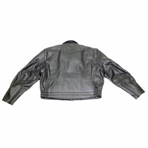 DETROIT POLICE LEATHER MOTORCYCLE DUTY JACKET BACK VIEW