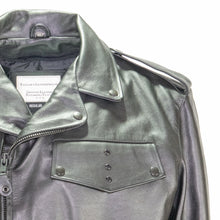 Load image into Gallery viewer, DETROIT POLICE LEATHER MOTORCYCLE JACKET
