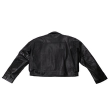 Load image into Gallery viewer, GEORGIA STATE TROOPER LEATHER JACKET TAYLORS LEATHERWEAR BACK FLAT