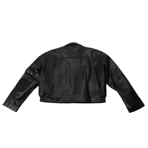 GEORGIA STATE TROOPER LEATHER JACKET TAYLORS LEATHERWEAR BACK FLAT